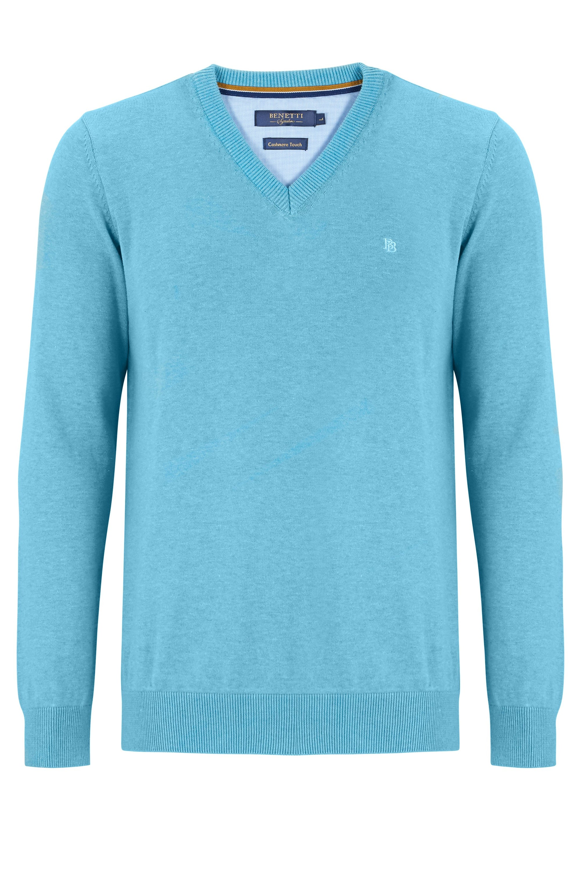 Teal V Neck Jumper