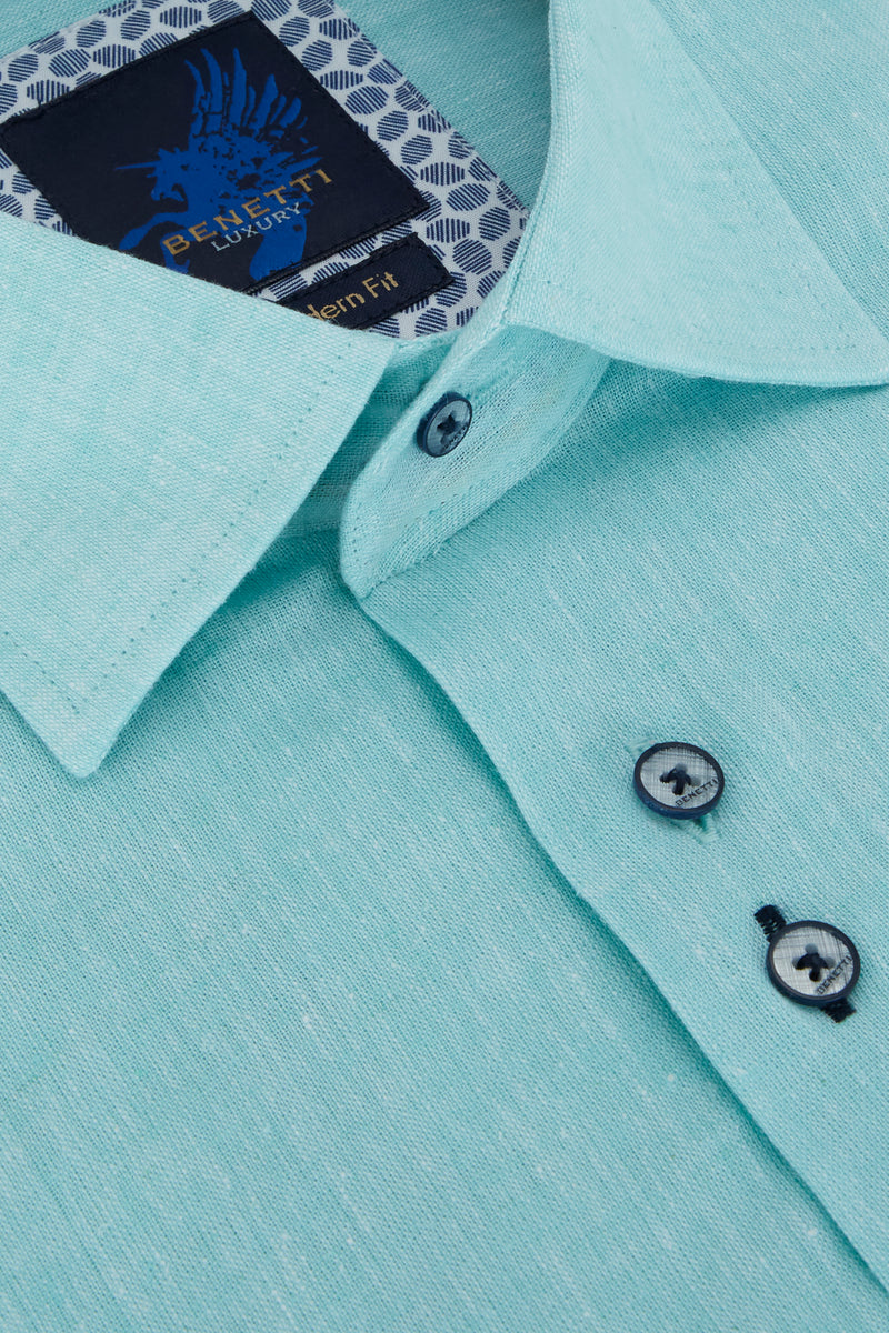 Benetti_Mint_Short_Sleeve_Shirt