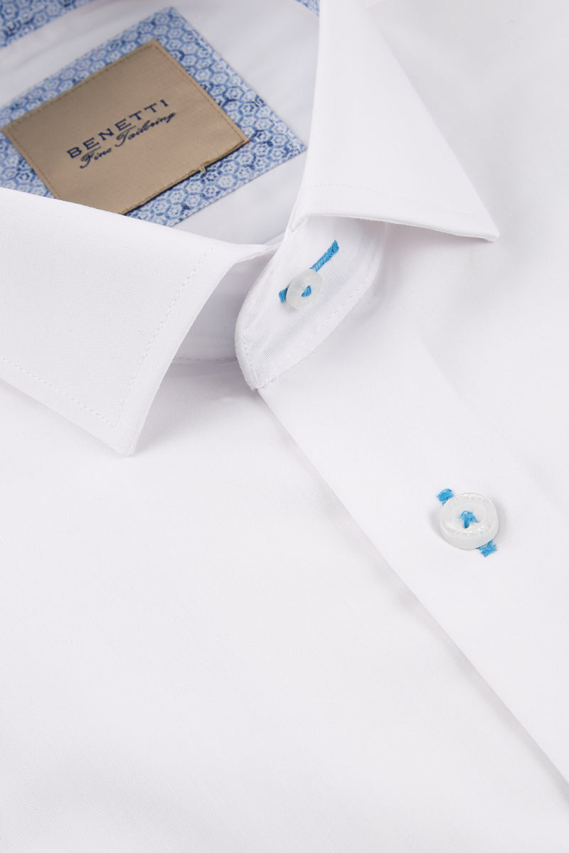 OBJ Slim Fit Formal Shirt: White