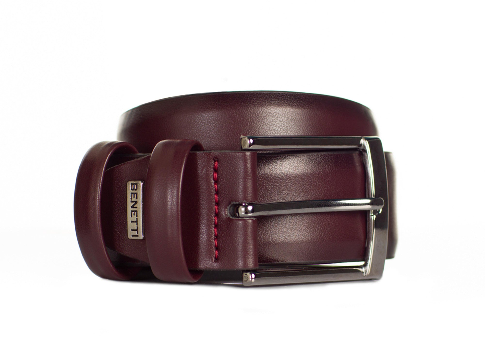Jackson Leather Belt | Wine