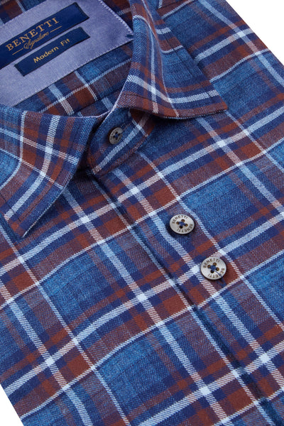 Benetti Zander Casual Check Shirt