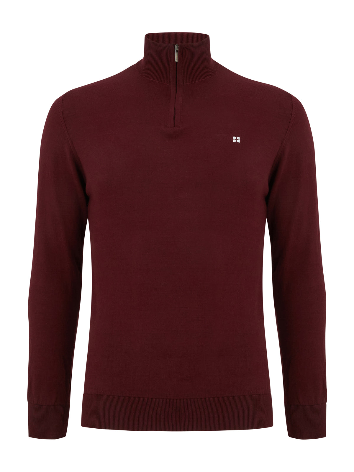 Canon Burgundy Half Zip Sweater