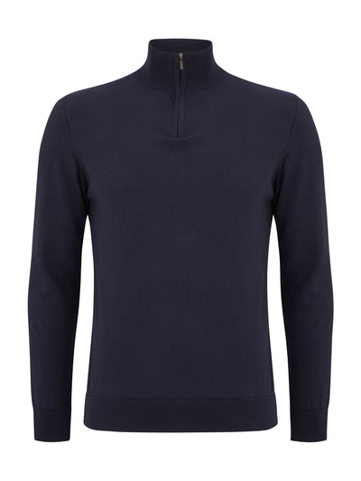 Canon Navy Half Zip Benetti Sweater