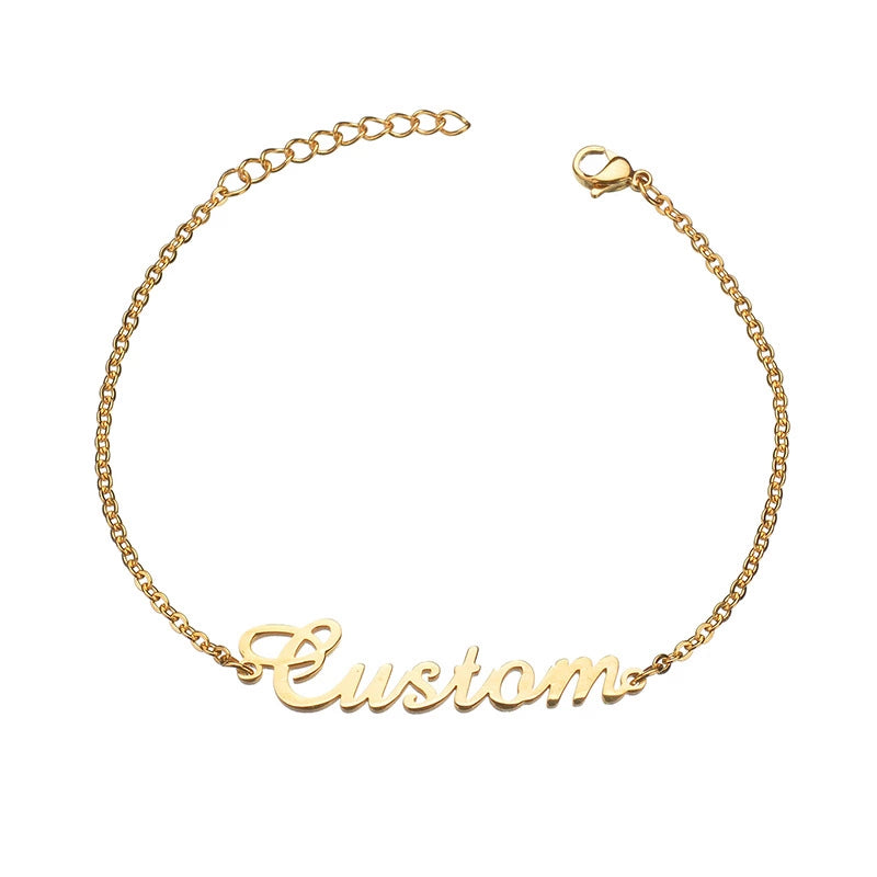 Custom Name Anklet - ArcMoon