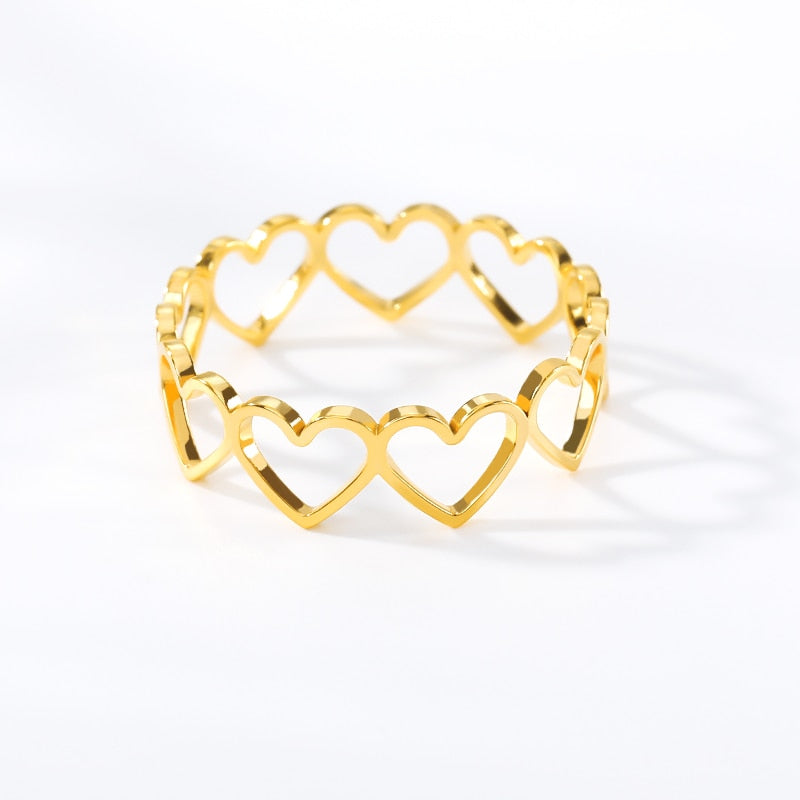 Chain of Hearts Ring - ArcMoon
