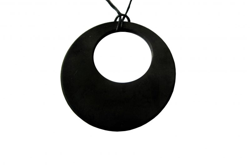 Shungite Circle on Circle Pendant