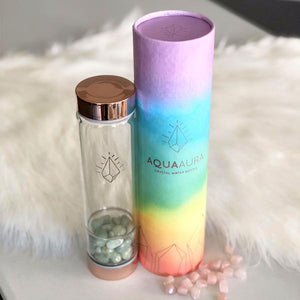 Crystal Water Bottle - Rose Gold