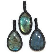Labradorite Oval Thread Pendant - 1pc