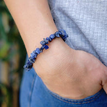 Load image into Gallery viewer, Lapis Lazuli Chip Bracelet