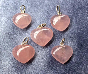 Rose Quartz Heart Pendant - Small 1pc