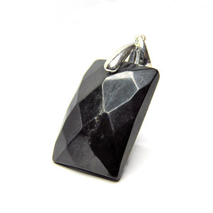 Facetted Shungite Pendant