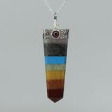 7 Chakra - Cap-set Point Pendant