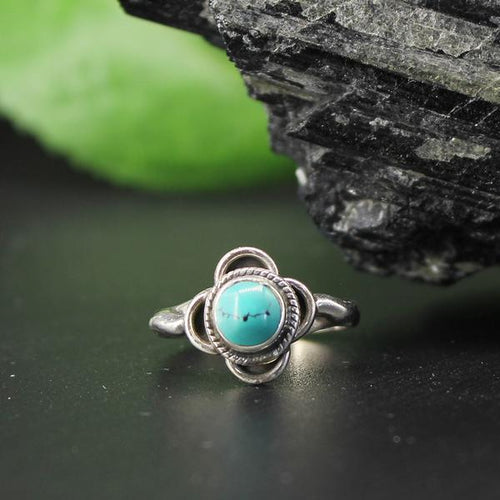 Turquoise Round Cabochan Ring