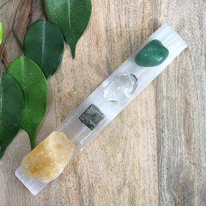 Selenite Cleansing Wand & Tumbled Stones
