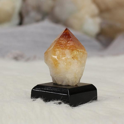 Citrine Crystal Raw on Stand