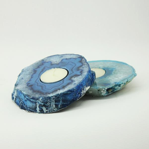 Blue Agate - Tealight Candle Holder