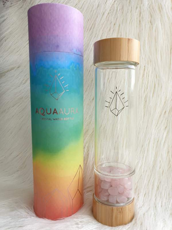 Crystal Water Bottle - Bamboo