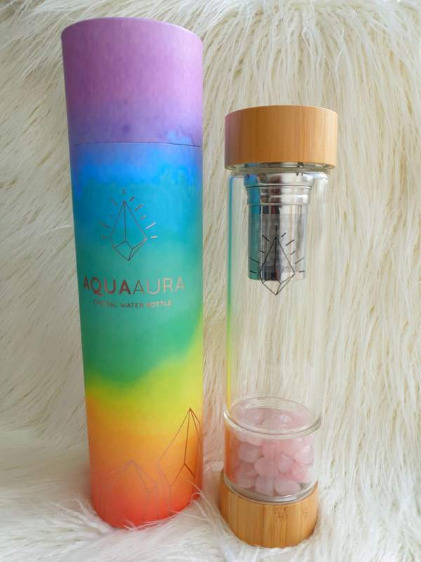 Crystal Water Bottle - Bamboo with Tea Infuser