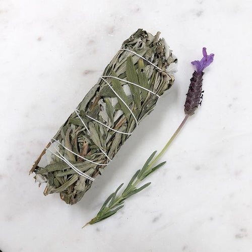 White Sage & Lavender Smudge - Medium