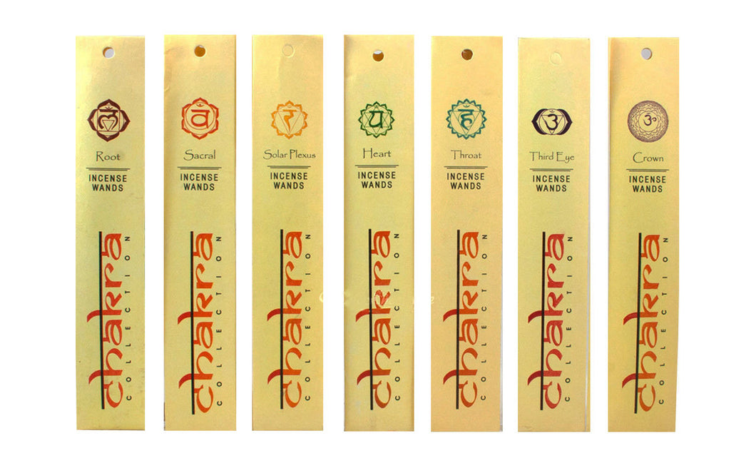 Incense Wands of the Chakra Collection