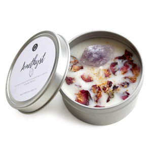 AMETHYST CRYSTAL SOY WAX CANDLE