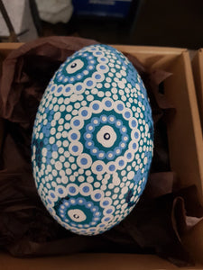 Aboriginal Emu Egg - Calm Waters