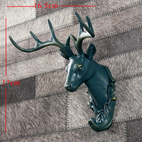 Image of Vintage  Deer Head Statues