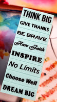 Rubber Stamps Inspirational Journal Words Special Bundle