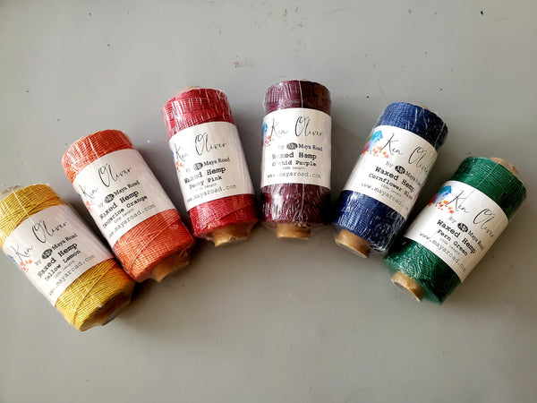 Waxed Hemp Craft Twine 6 Colors