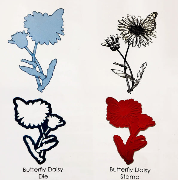 Stamp and Die Bundle Butterfly Daisy Set