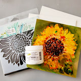 Mixed Media Sunflower Painting Kit 6x6