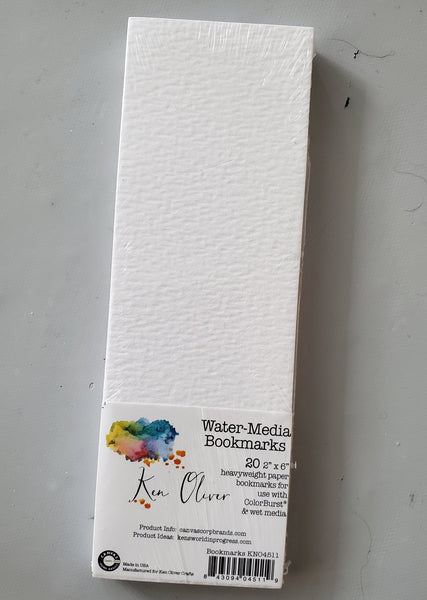 Watercolor Paper Book Marks 20 pc