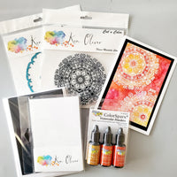 Flower Mandala Card Kit and Free Class