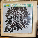 Sunflower Painting Class with Wooden Frame and Mixed Media Board Combo Pack