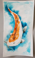 Original Art-Japanese Koi Watercolor Painting