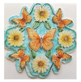 Rubber Stamp Butterfly Daisy Mandala