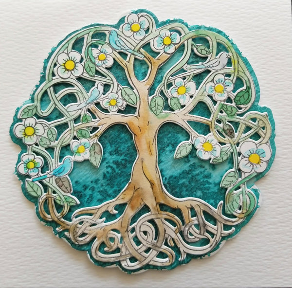 Rubber Stamp and Die Bundle Tree of Life