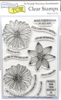 "Clear Stamp ""Precious Sentiments"" 4x6 Stamp Set from The Crafter's Workshop"