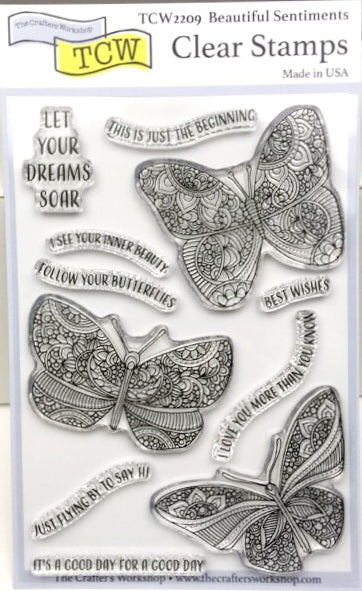 "Clear Stamp ""Beautiful Sentiments""  4x6 Stamp Set from The Crafter's Workshop"