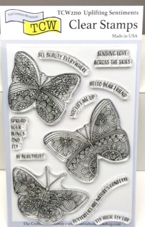 "Clear Stamp ""Uplifting Sentiments""  4x6 Stamp Set from The Crafter's Workshop"