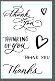 "Clear Stamp ""Thank you Hearts"" 4x6 Stamp Set from The Crafter's Workshop"