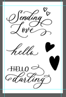 "Clear Stamp ""Sending Love"" Stamp 4x6 Set from The Crafter's Workshop"