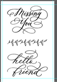 "Clear Stamp ""Missing You"" 4x6 Stamp Set from The Crafter's Workshop"