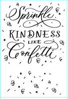 "Clear Stamp ""Sprinkle Kindness""  4x6 Stamp Set from The Crafter's Workshop"