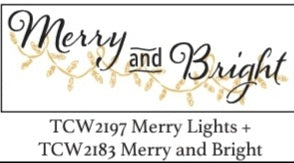 Merry and Bright Stencil Combo with Mixed Media Board