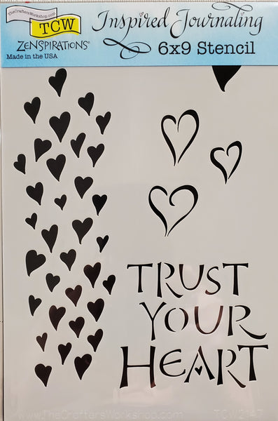 Stencil Trust Your Heart by Joanne Fink for The Crafter's Workshop