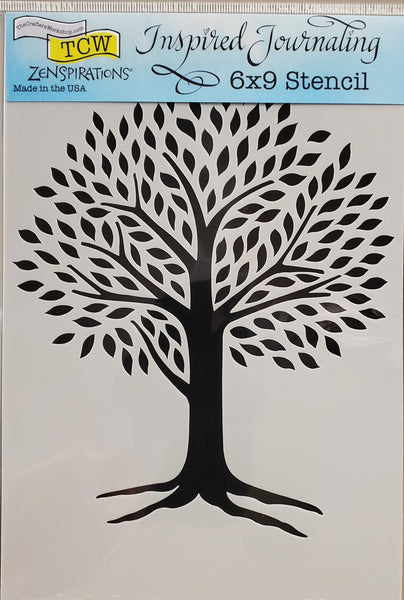 Stencil Tree of Life by Joanne Fink for The Crafter's Workshop