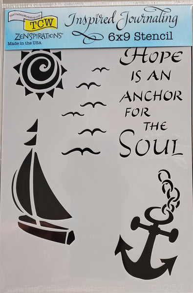 Stencil Hope is an Anchor by Joanne Fink for The Crafter's Workshop