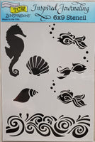 Stencil The Sea by Joanne Fink for The Crafter's Workshop