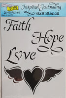 Stencil Faith Hope Love by Joanne Fink for The Crafter's Workshop